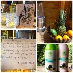 ¡Los detalles! Frutas frescas, té, velas